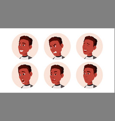 avatar icon man black african facial vector image