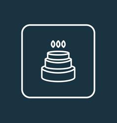 Birthday cake icon line symbol premium quality vector