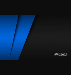 black and blue modern material design corporate vector image