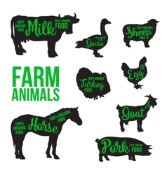 Black animal circuit with product inscription vector image