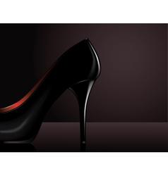 Black heel vector