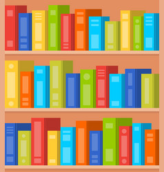 books on shelves seamless pattern flat vector image
