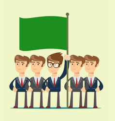 business team work and leadership concept icon vector image