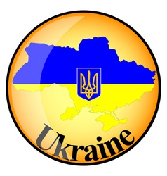 button Ukraine vector image