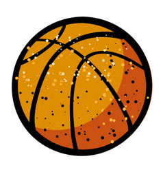 Cartoon image of basketball ball vector