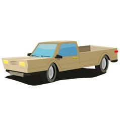 Cartoon-yellow-car vector