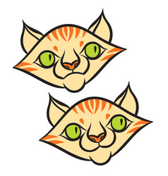 Cat head cartoon style vector