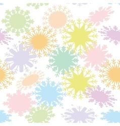 Christmas design seamless pattern snowflake set vector image