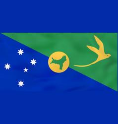 Christmas island waving flag christmas island vector