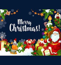 Christmas wish santa greetings card vector