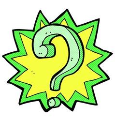 Comic cartoon question mark vector