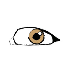 Comic eye look optical style vector