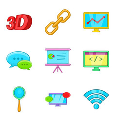 Cordless hardware icons set cartoon style vector