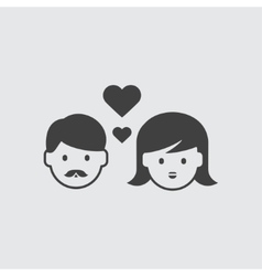 Couple in love icon vector image
