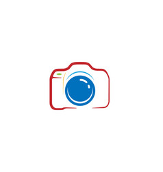 creative abstract camera logo design symbol vector image
