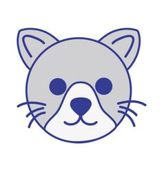 Cute cat head pet animal vector