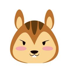 Cute squirrel animal cartoon vector