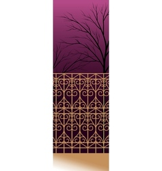Decorative fence Background vector image