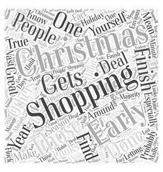 Early christmas shopping word cloud concept vector