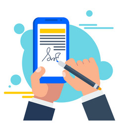 Electronic signature concept vector