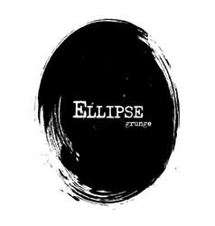 ellipse shape grunge style vector image