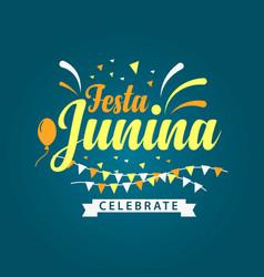 Festa junina logo template design vector