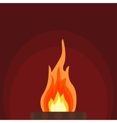 Fire bonfire vector image