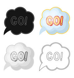 Go in the cloudfans single icon in cartoon style vector