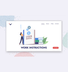 Guidance or tutorial for users landing page vector