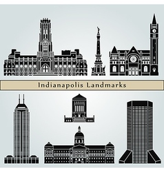 Indianapolis landmarks and monuments vector