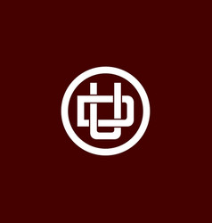 initial letter du or ud logo template vector image