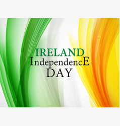 Ireland independence day background vector
