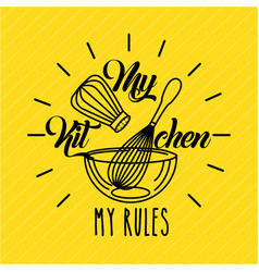 Kitchen rules flat vector