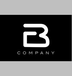 letter b alphabet logo icon template design vector image