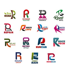 Letter r abstract business identity vector