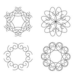 Logo template set Guilloche decorative elements vector