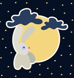 Moon rabbit of Mid Autumn Festival Chuseok vector