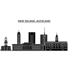 new zeland auckland architecture city vector image