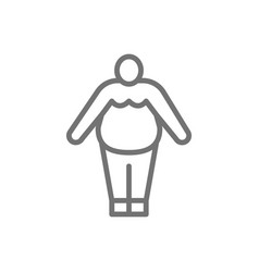 obesity fat man chubline icon vector image