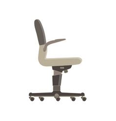 office chair flat icon isolated furniture side vector image