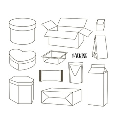 Packing Boxes collection vector