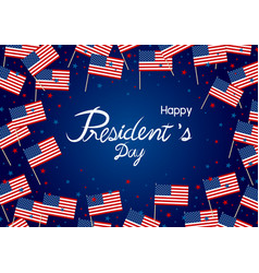 presidents day design america flag and star vector image