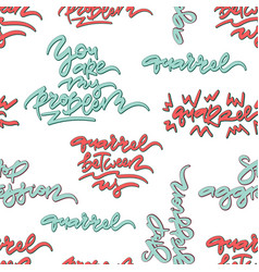 Quarrel hand drawn lettering seamless pattern vector
