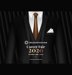 Recruitment design poster we are hiring vector