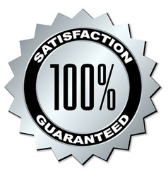 satisfaction guaranteed label vector image