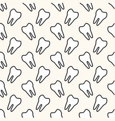 seamless geometric pattern with teeth vector image