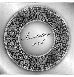 Silver invitation vector