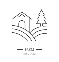 Simple Logo Template Farm vector image