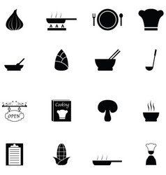 soup icon set vector image