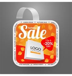 Square wobbler design template Autumn sale event vector image